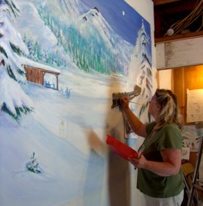Mural at the Clair Tappan Lodge