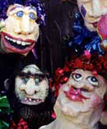 Paper mache faces