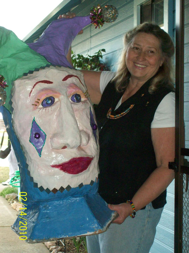 paper mache jester