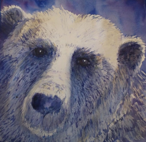 Polar Bear painting by Susan Barry