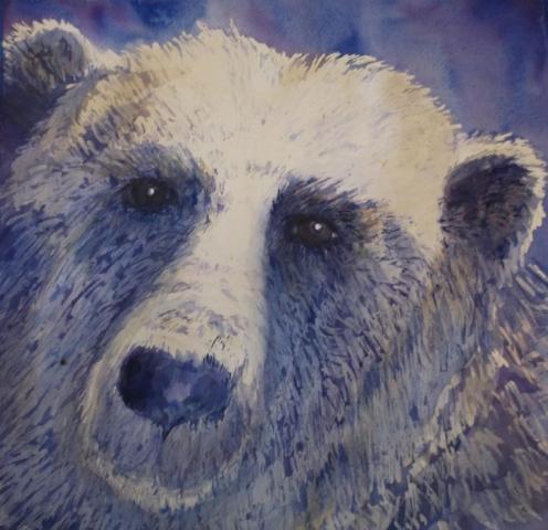 Polar Bear painting by Susan Barry
