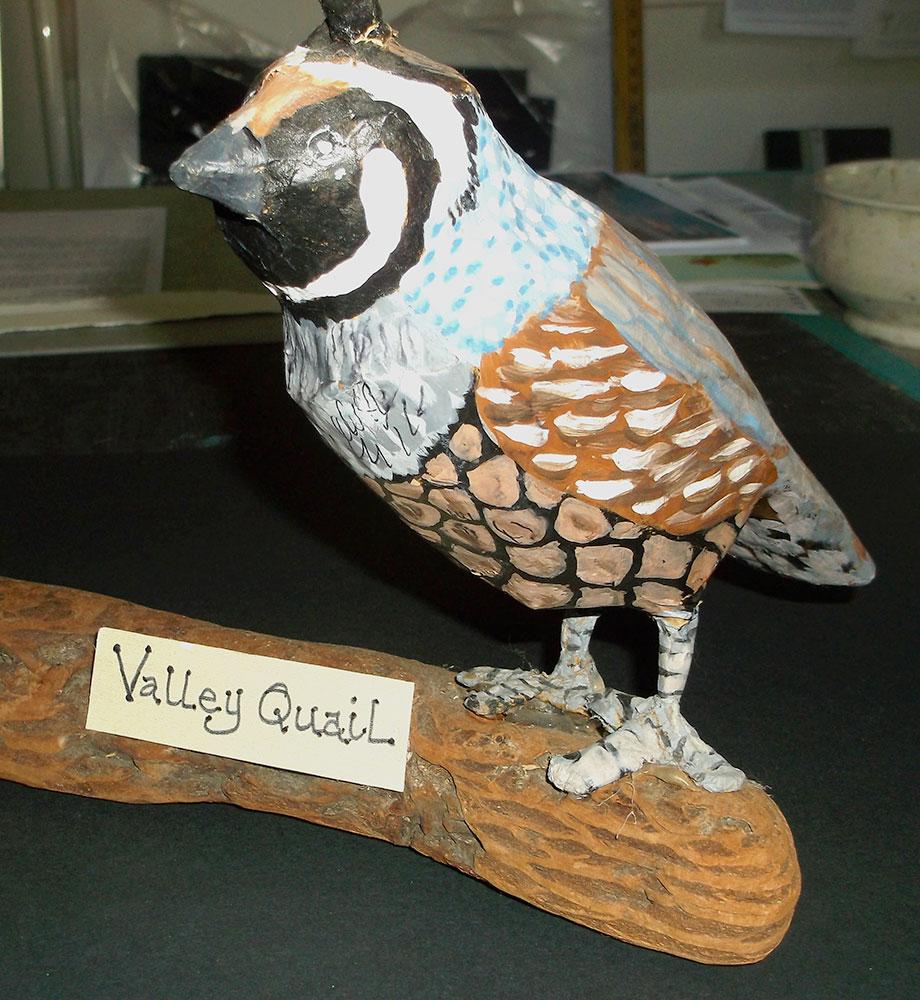 Paper mache quail