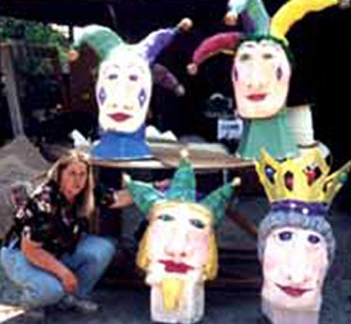 Paper mache puppet heads